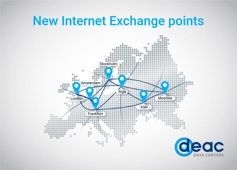 DEAC соединил все дата-центры единой сетью с крупнейшими провайдерами мира